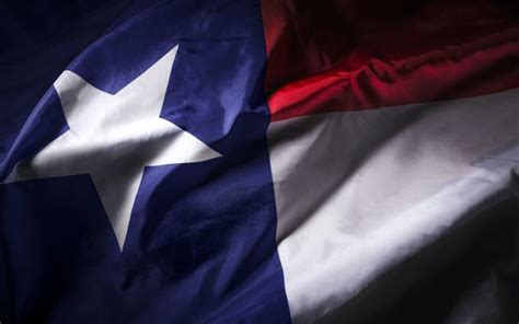 Download wallpapers Texas flag, American state, silk