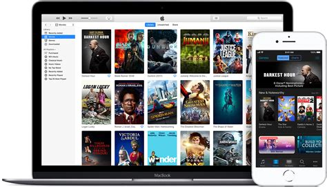 Download or stream movies and TV shows from the iTunes