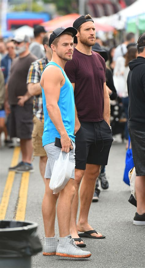 Derek Hough and Brooks Laich at the farmers market | Pure