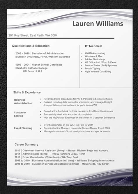 Sample Resumes - Professional Resume Templates and CV