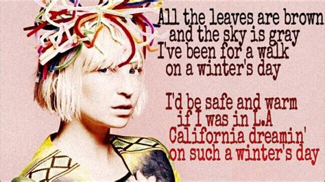 SIA - California Dreamin' - (Song Lyrics) - YouTube