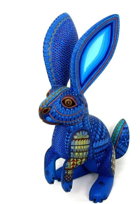 OAXACAN wood carving RABBIT by JACOBO & MARIA ANGELES