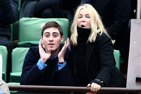 EMMANUELLE BEART at French Open at Roland-Garros Arena in