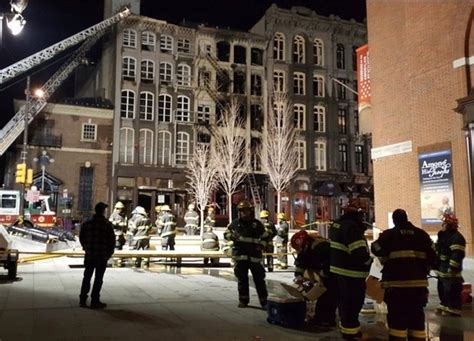 Fire in Philadelphia's Old City rips through buildings