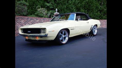 1969 Camaro RS Convertible, butternut yellow, for sale Old