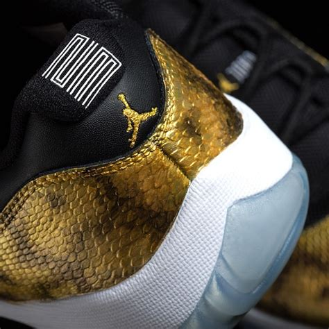 Air Jordan 11 Low Golden Snake Custom - Sneaker Bar Detroit