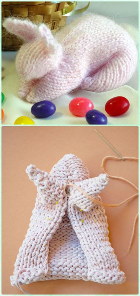 DIY Knit Bunny From A Square Free Pattern | Knitting
