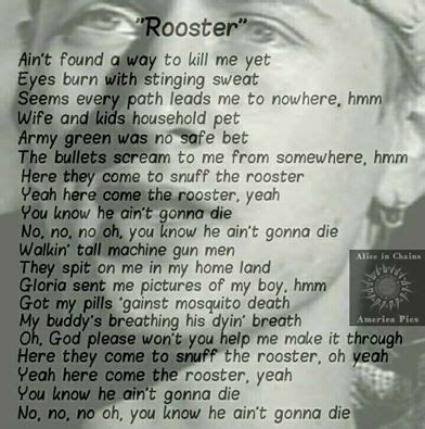 Rooster Alice in chains Lyrics | Alice in chains rooster