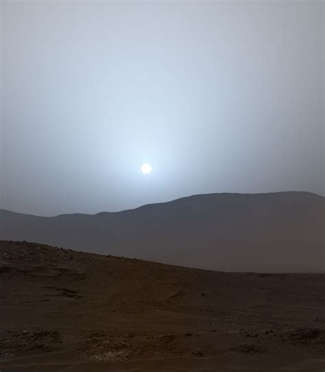 A Sunset on Mars: Crafting a scene from archival data