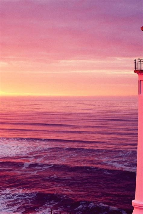 North head lighthouse in pink wallpaper | AllWallpaper