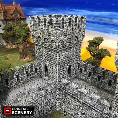 Port Winterdale Ramparts and Ruins - Printable Scenery