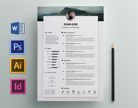 Free Resume / CV Template on Behance
