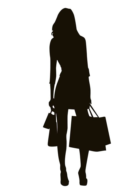 Silhouette shopping girl photo from Fiverr www