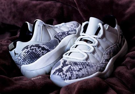 Air Jordan 11 Low Snakeskin Light Bone CD6846-002