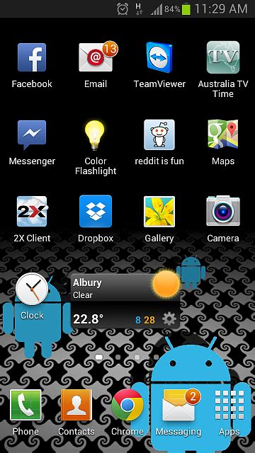 Galaxy S3: Messaging Icon on home screen shows unread