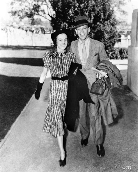 Fred Astaire walking with wife Phyllis Livingston Potter