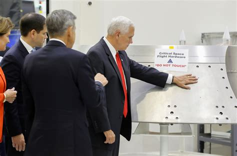 Mike Pence visited Nasa and touched the thing you mustn't